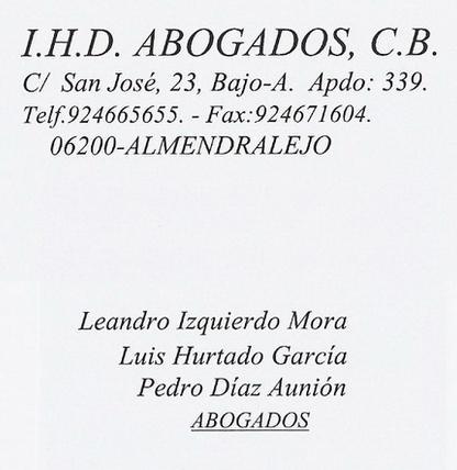 I.H.D. ABOGADOS, C.B.