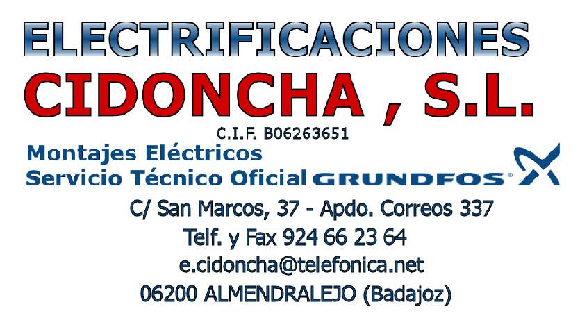 ELECTRIFICACIONES CIDONCHA, S.L.